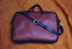 Leather 2-Tone Briefbag