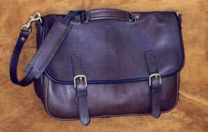 Book Brief Leather Briefcase