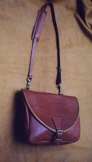 Leather Mail Bag by Fred Eisen Leather