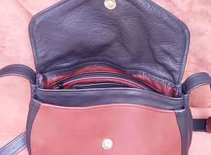 Leather Tie Bag Inside
