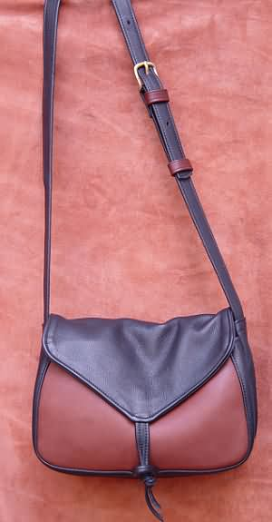 Small Leather Tie Bag