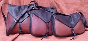 Leather Tie Bags