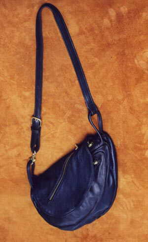 Large Black Leather Waterbag