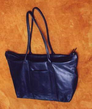 Unlined Zipper Tote Bag