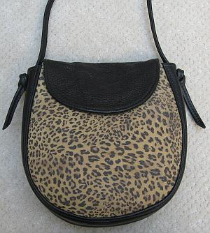 Black and Baby Cheeta Elana Bag