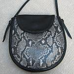 Black and Printed Python Elana Bag