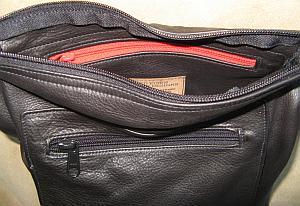 Leather Fall Bag Inside