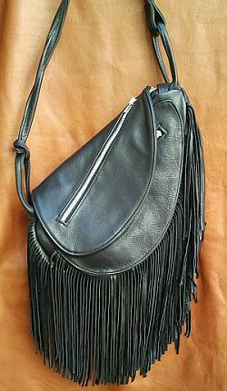 Fringed Leather Waterbag