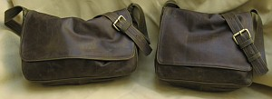 Olive Leather Messenger Bags