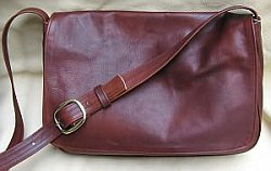 Leather Messenger Bag for Men or Women