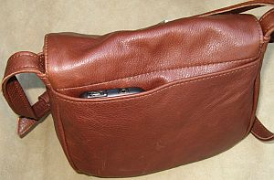 Small Leather Classic Bag Back