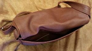 Medium Leather Messenger Bag Back