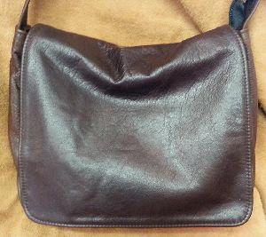 Small Old English Leather Messenger Bag