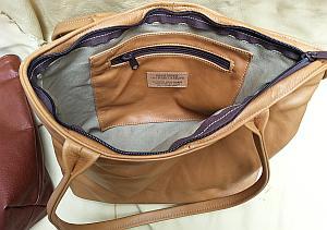 Large Zipper Tote Bag Inside